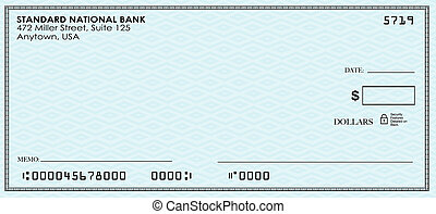 Blank Check Money Payment Bank Account