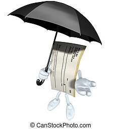 Blank Check With Umbrella