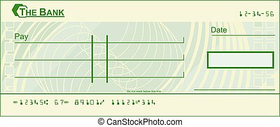 Vector illustration of template of blank banking check cheque template of blank banking check blank cheque pronofoot35fo Image collections