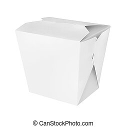 Blank Chinese food container isolated on white background