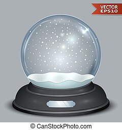 Blank Christmas Snow Globe