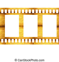 blank cinema film isolated on white