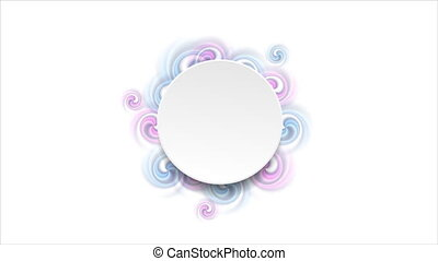Blank circle and bright swirl shapes video animation