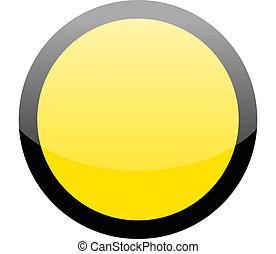 Blank circle yellow hazard warning sign