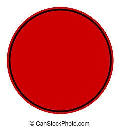 Blank circular red stamp