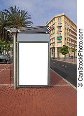 Blank City Bus Stop Advertisement
