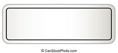 Blank City Nameplate - A blank city nameplate on a white...