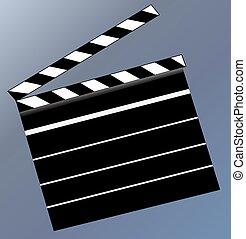Blank Clap Board - Illustration of a blank clap board on a ...
