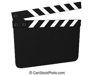 Blank clapboard isolated