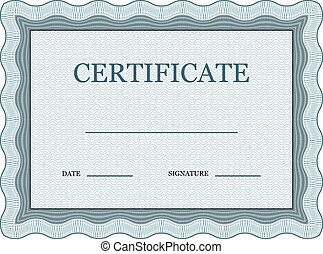 blank classic certificate decorative