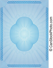 blank - Vector illustration - the form of the certificate or...