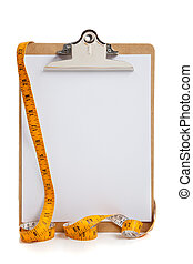 Blank Clipboard with measuring tape