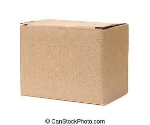 Blank closed brown cardboard box
