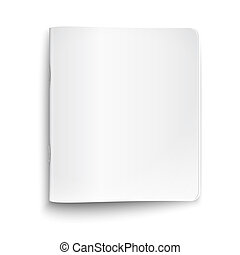 Blank closed copybook on white background. - Blank closed...