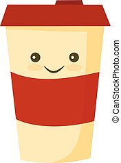 Blank coffee cup flat icon