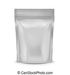 Blank coffee sachet. - Blank foil or plastic sachet with ...