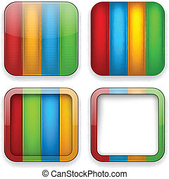 Blank color app icons.