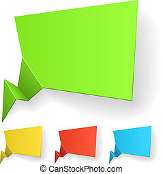 Blank color label vector template