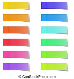 Blank Color Memo Note Stickers