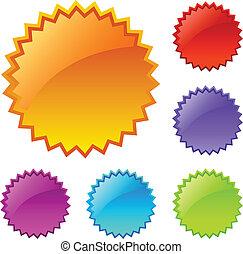 Blank colored splash icons - Blank colored splash web icons...