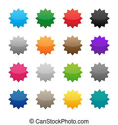 Blank colorful stickers