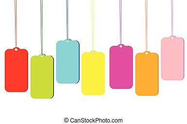 Blank colorful tags