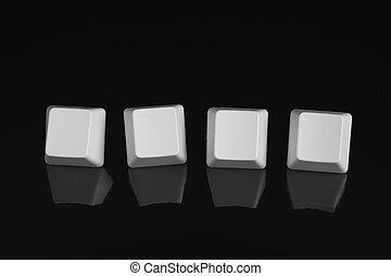 Blank computer keys