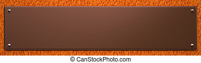 Blank Copper Plate on Wood Background