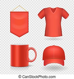 Blank corporate promotional red identity gifts,