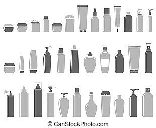 blank cosmetic bottle set