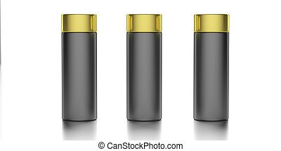 Blank cosmetic bottles isolated on white background. 3d illustration