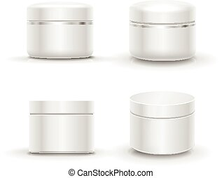 Blank cosmetic package container for cream, powder or gel -...