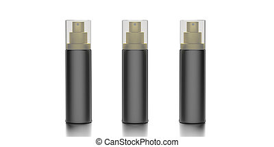 Blank cosmetic spray isolated on white background. 3d illustration