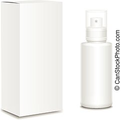 Blank cosmetics containers, bottle with package