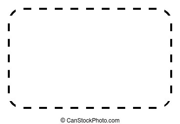 Silhouetted black voucher or coupon isolated on white background with copy space.