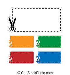 Blank coupons set. Vector