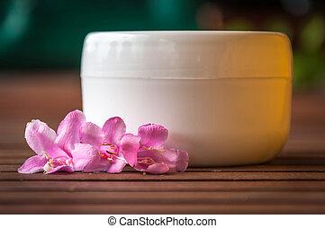 Blank cream jar