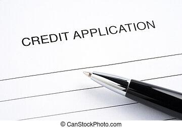 Blank credit application form