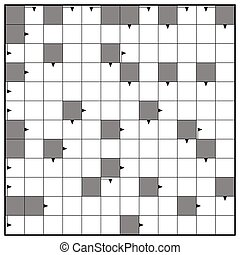 Blank Crossword Puzzle Square Background