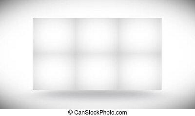 Blank cubes turning