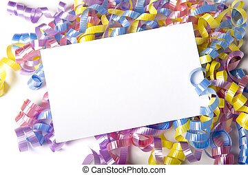 Blank Curly Ribbon Notecard