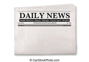 Blank Daily Newspaper - Mock up of a blank Daily Newspaper...