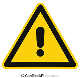 Blank Danger And Hazard Triangle Warning Sign Isolated Macro...