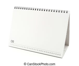blank desktop calendar with copy space for text, design and ...