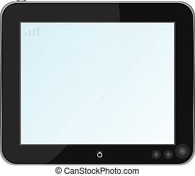 Blank digital PC tablet vector
