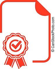 Blank diploma icon