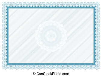 Blank diploma with rosette - Blank diploma or certificate...