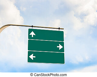 Blank direction signboard for copy space
