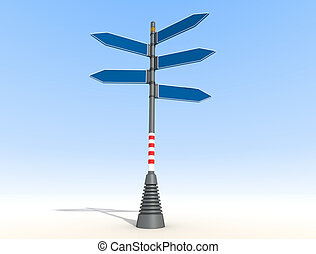 blank directional sign post - Blank Directional Sign Post on...