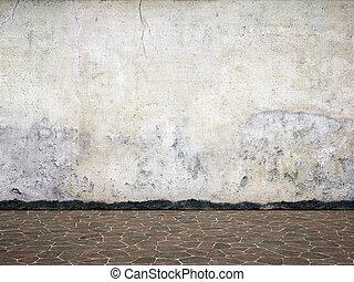 Blank dirty wall